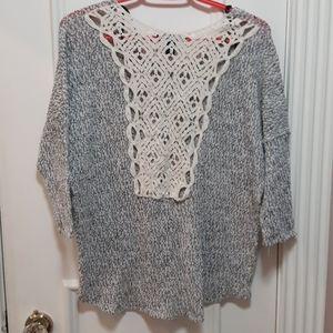 Salt and pepper crewneck sweater
